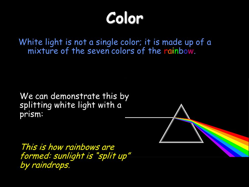 Color Part 3 - Color In this section of the Powerpoint you will learn about color and how we can mix colors to create other colors.