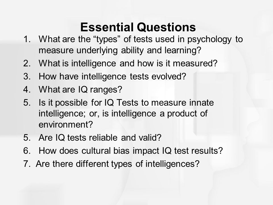 Psychology Question about Intelligence?