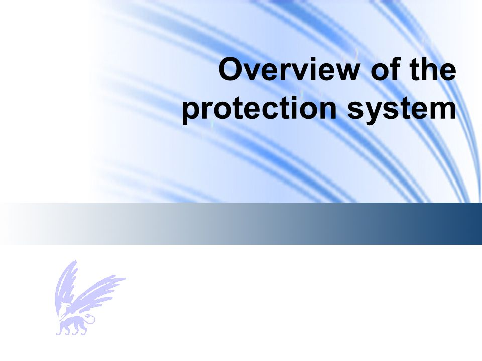 Overview of the protection system