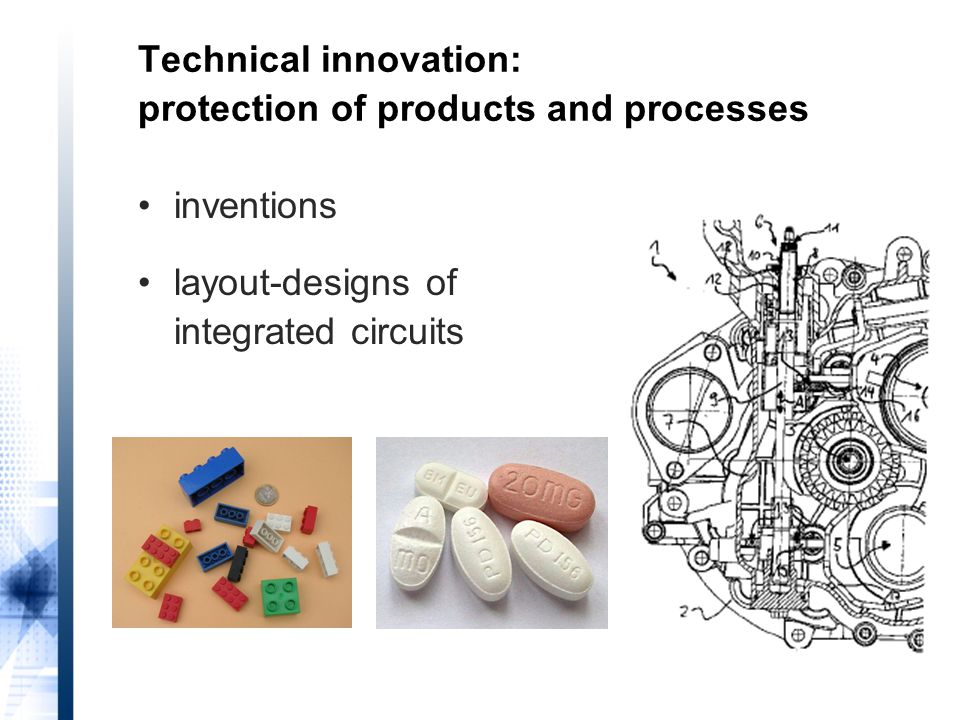 Technical innovation: protection of products and processes inventions layout-designs of integrated circuits