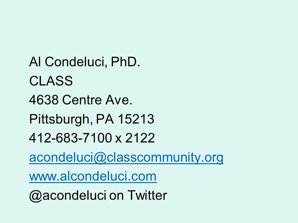 Al Condeluci, PhD. CLASS 4638 Centre Ave.