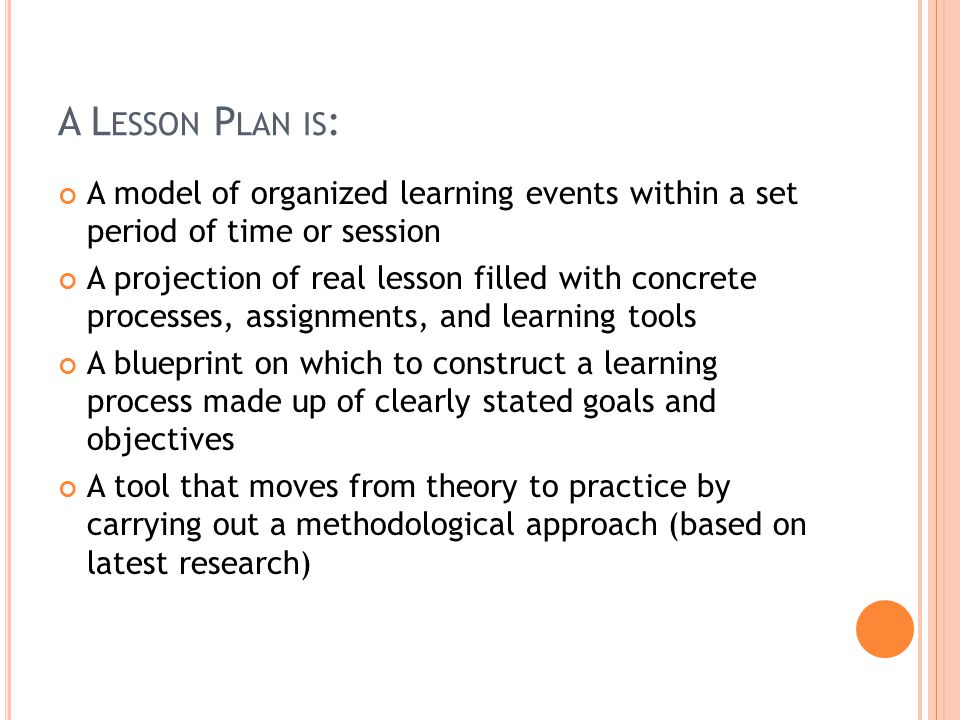 Nature  Importance Of Lesson Planning By Carol Gaerlan  Ppt Download