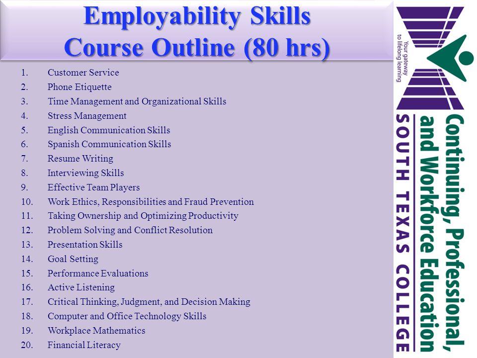 communication employability skills coursework