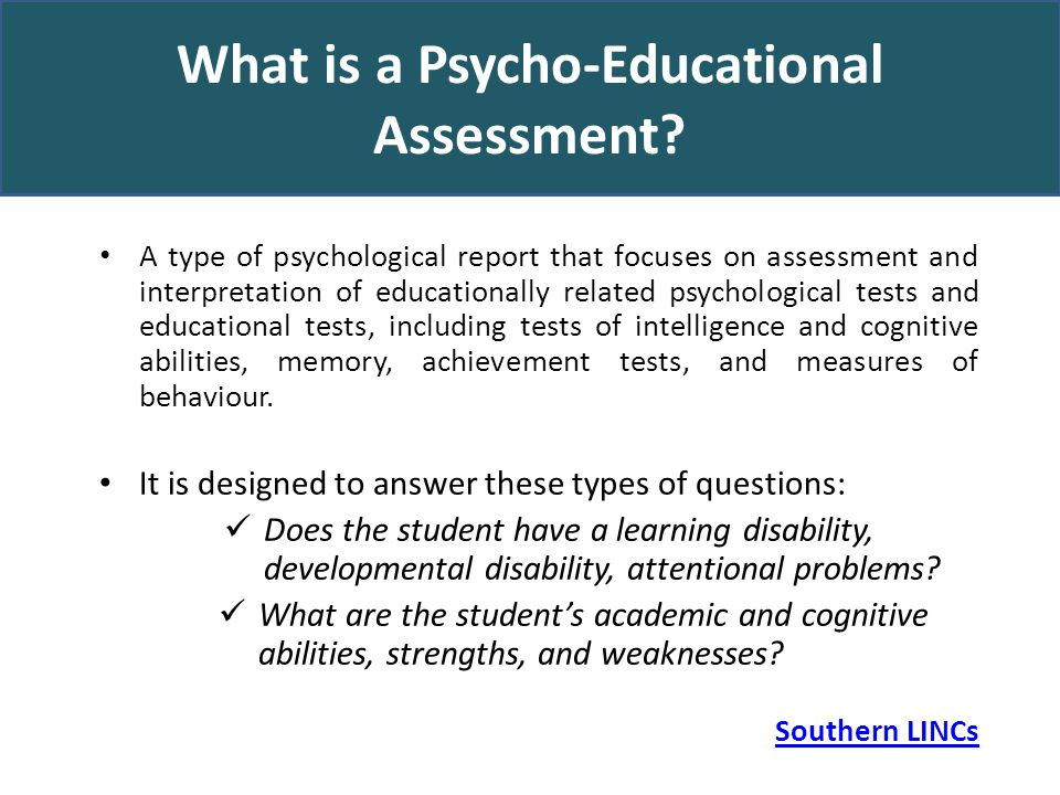 Demystifying The PsychoEducational Assessment Report Suzanne