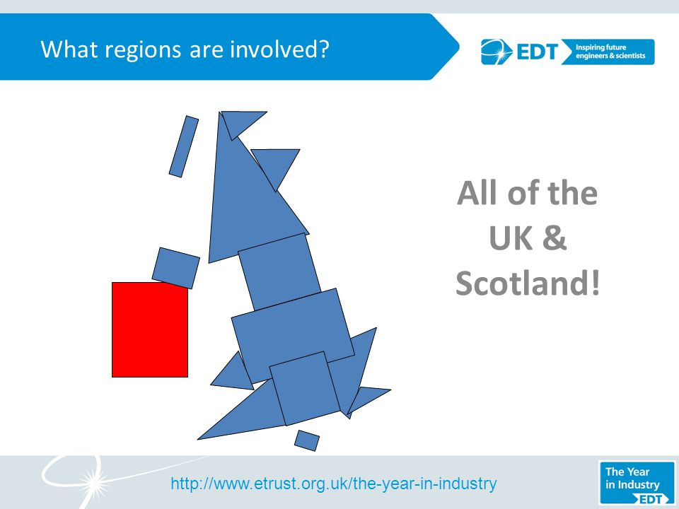 What regions are involved All of the UK & Scotland!