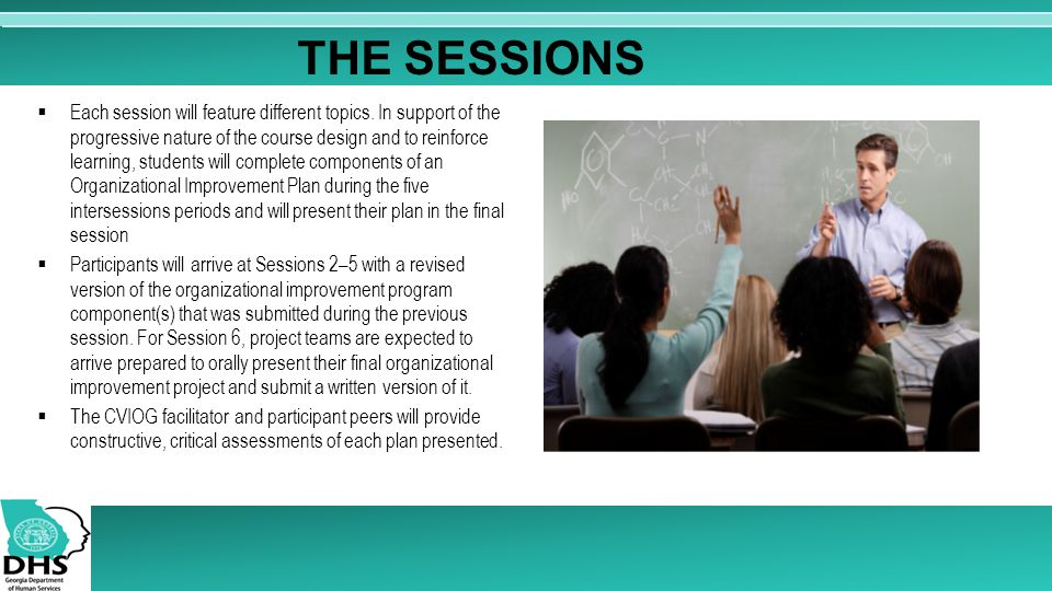  Each session will feature different topics.