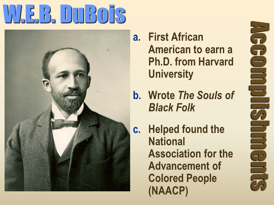 w.e.b. dubois research paper Open document below is an essay on double consciousness in web dubois' works from anti essays, your source for research papers, essays, and term paper examples.