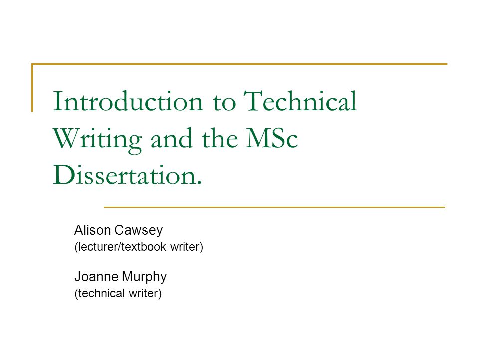 Dissertation Introductions