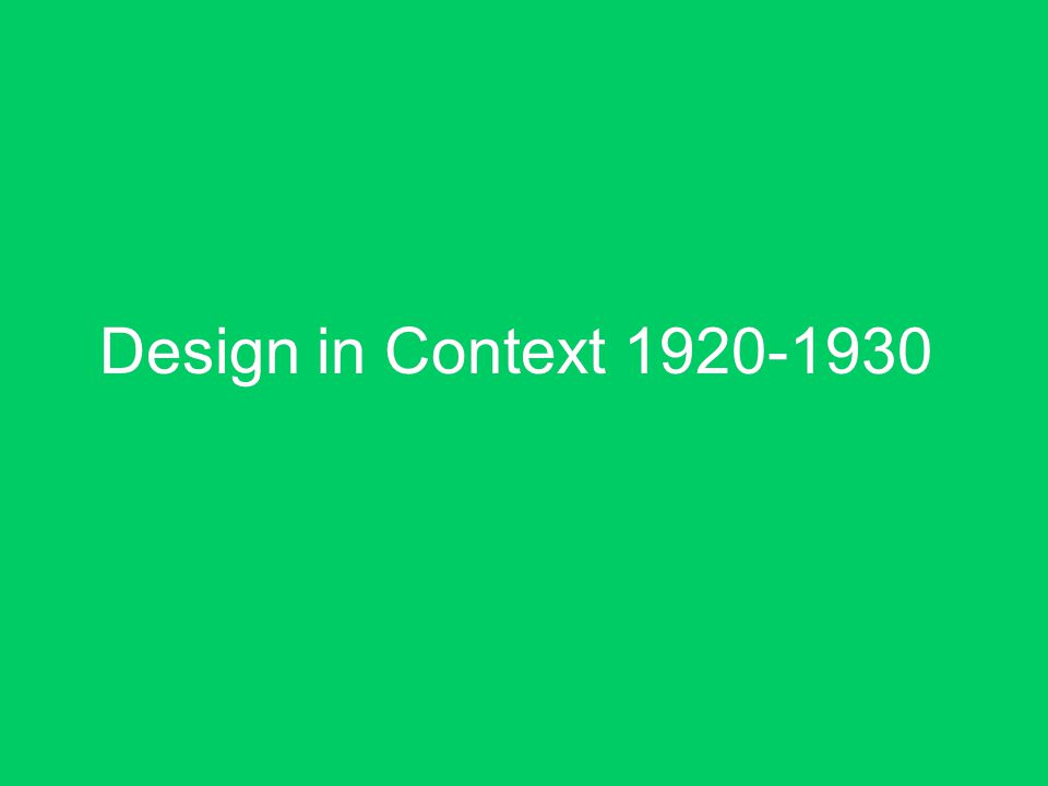 Design in Context