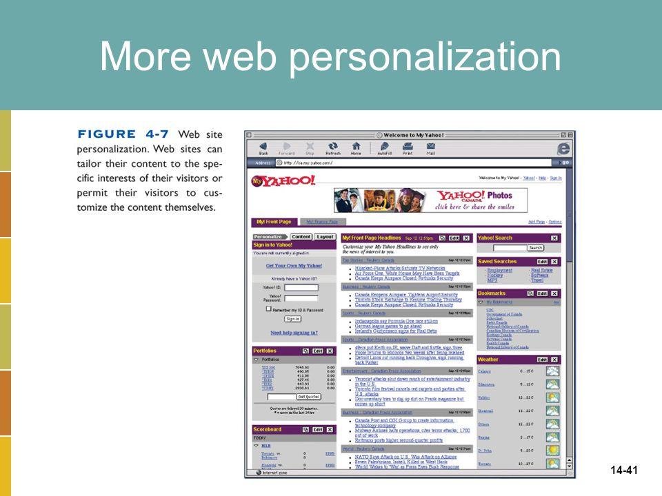 14-41 More web personalization