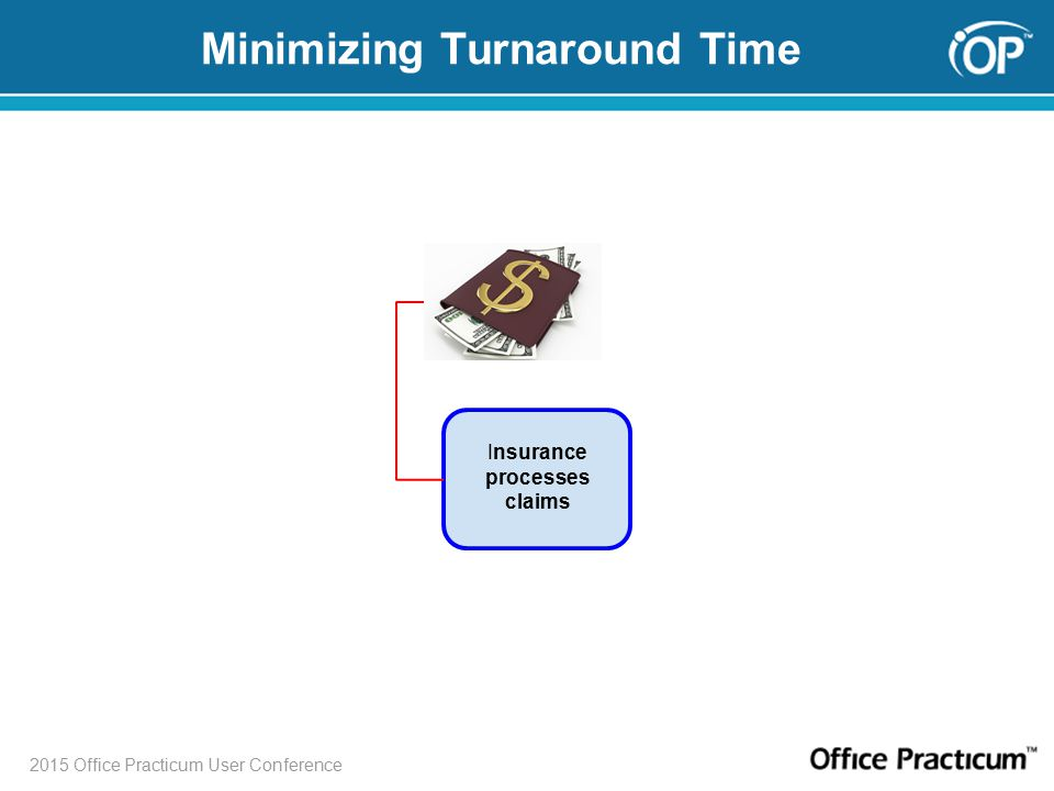 2015 Office Practicum User Conference Minimizing Turnaround Time Insurance processes claims