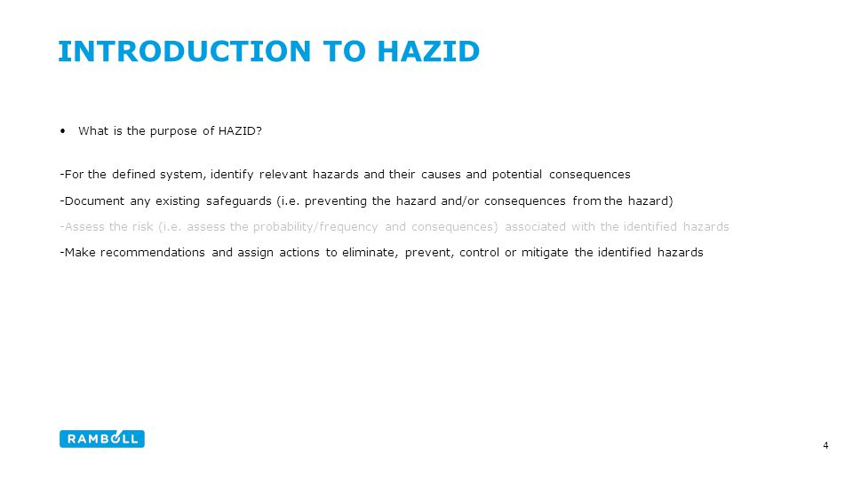 What is the purpose of HAZID.