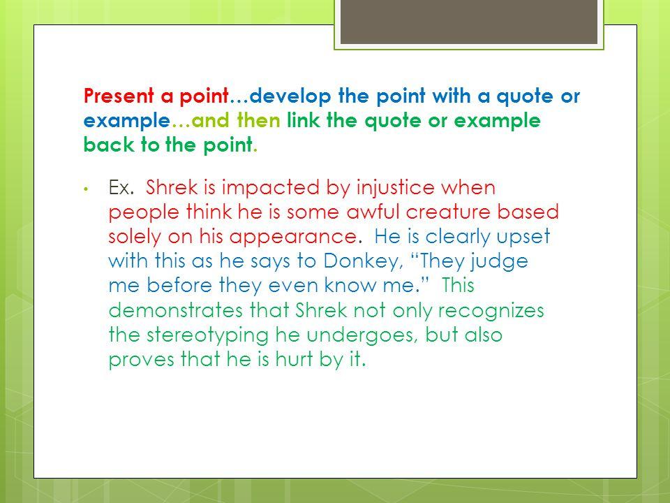 How to conclude a Shrek Essay?
