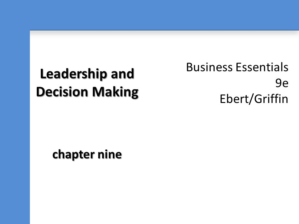After reading this chapter, you should be able to: 1.Define leadership and distinguish it from management.