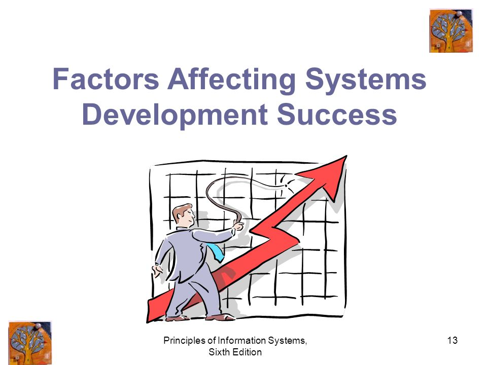 Principles of Information Systems, Sixth Edition 13 Factors Affecting Systems Development Success