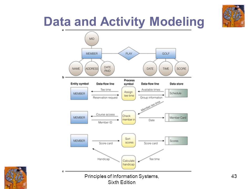 Principles of Information Systems, Sixth Edition 43 Data and Activity Modeling