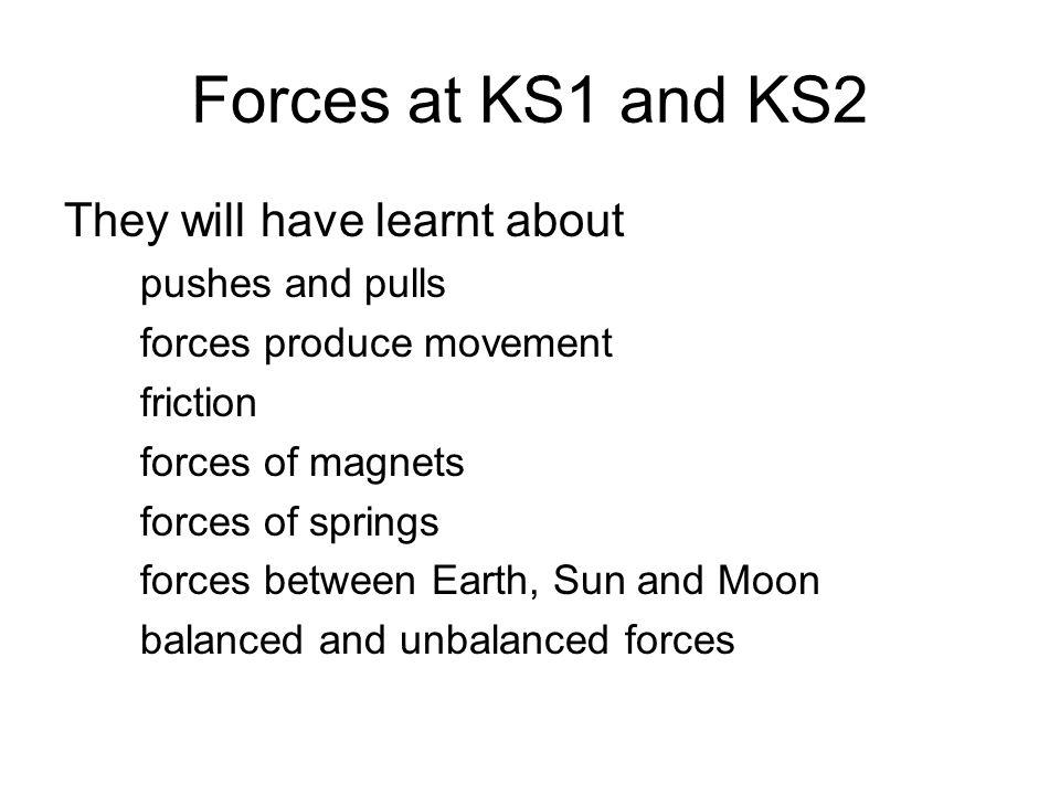 Forces sheet ks2