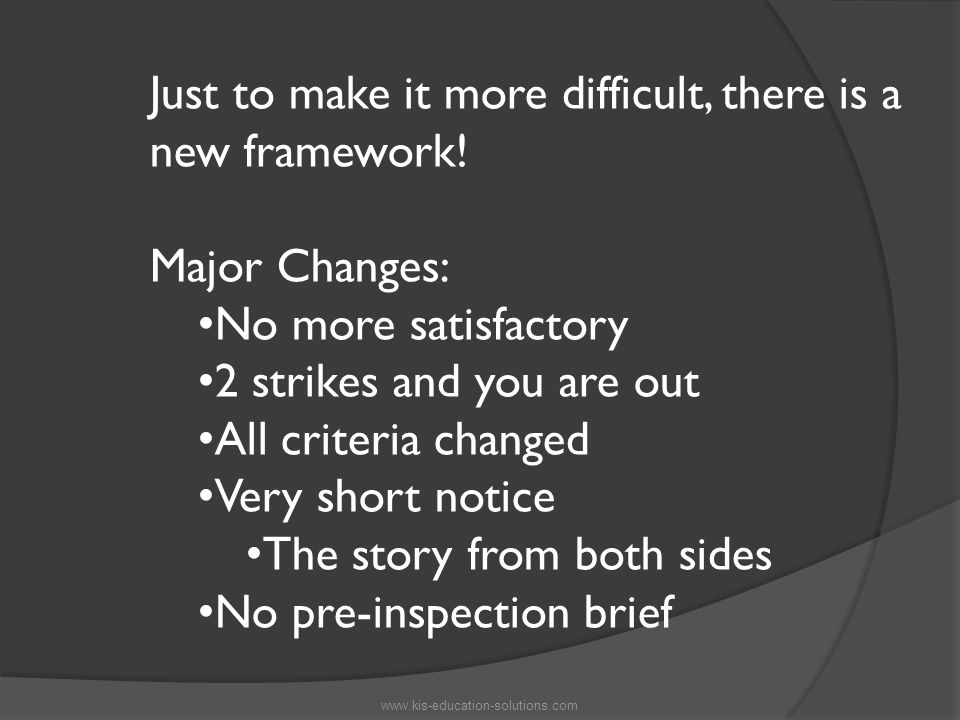 Just to make it more difficult, there is a new framework.