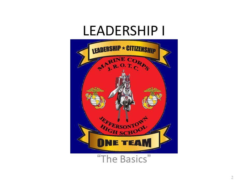 "LEADERSHIP I ""The Basics"" 2"