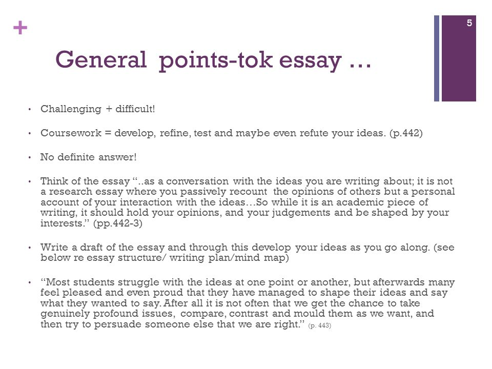 tok essays on language