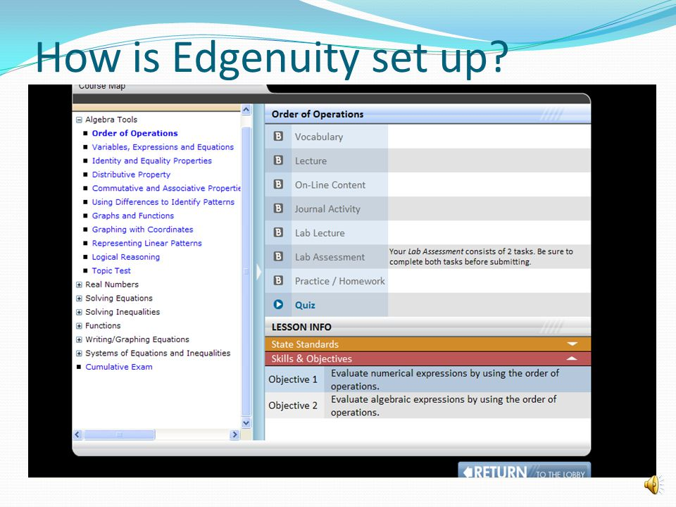How is Edgenuity set up
