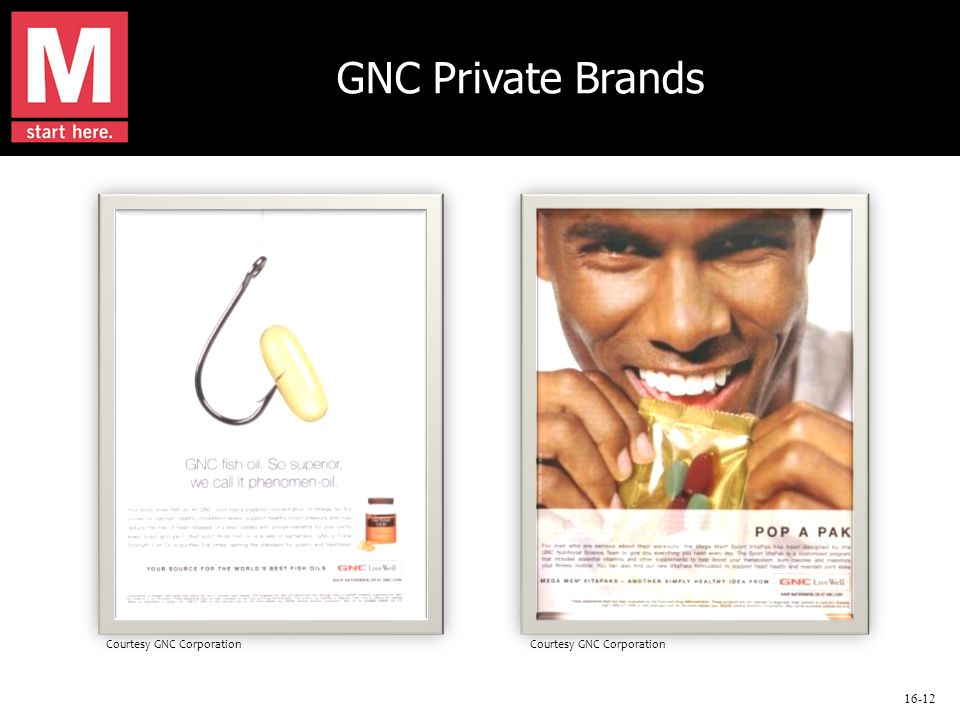 16-12 GNC Private Brands Courtesy GNC Corporation