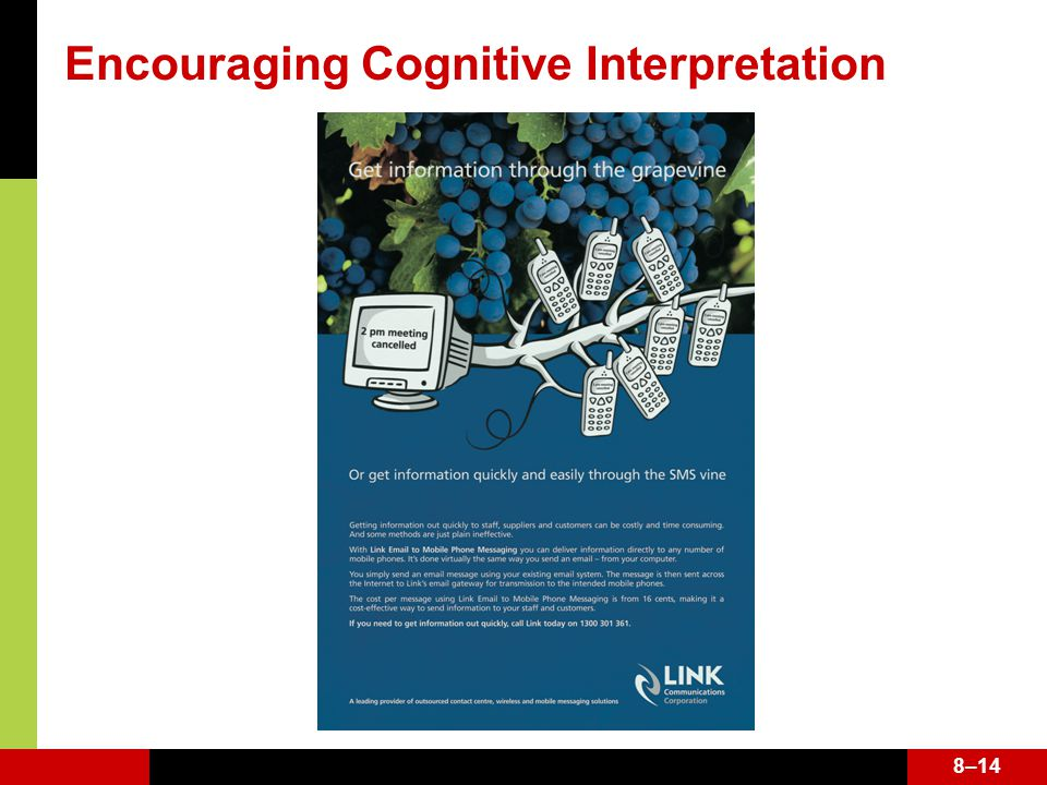 8–14 Encouraging Cognitive Interpretation 8–14