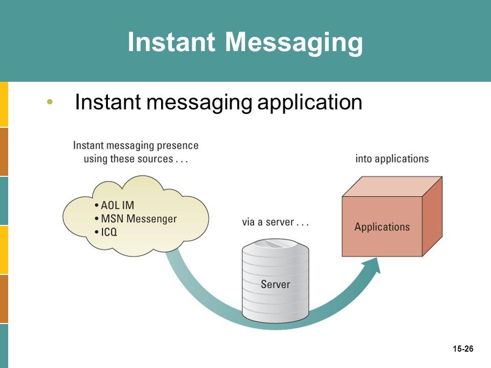 15-26 Instant Messaging Instant messaging application