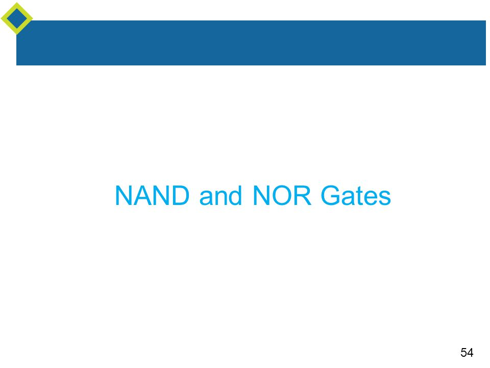 54 NAND and NOR Gates