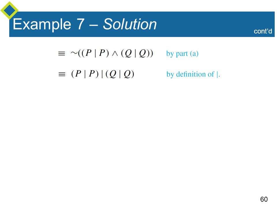 60 Example 7 – Solution cont'd