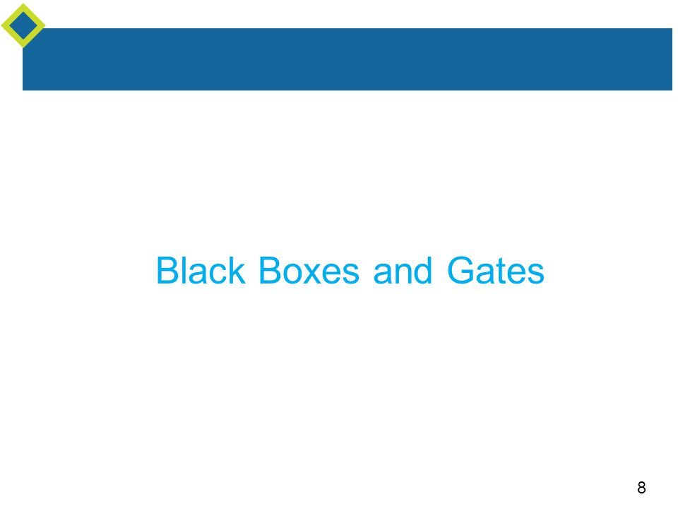 8 Black Boxes and Gates