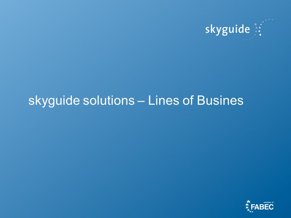 skyguide solutions – Lines of Busines