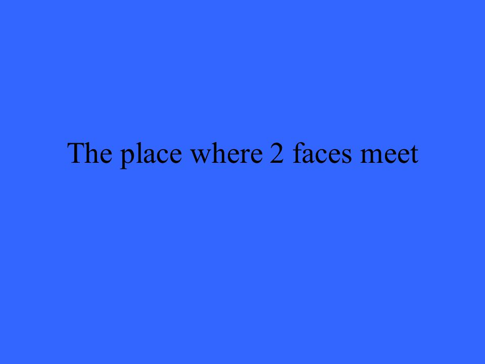 The place where 2 faces meet