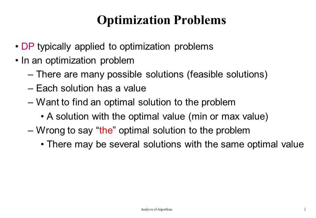 "Presentation ""Dynamic Programming An algorithm design paradigm ..."