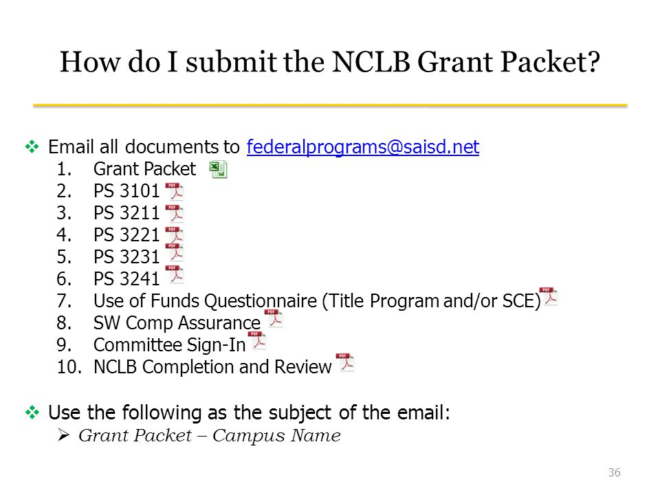 How do I submit the NCLB Grant Packet.