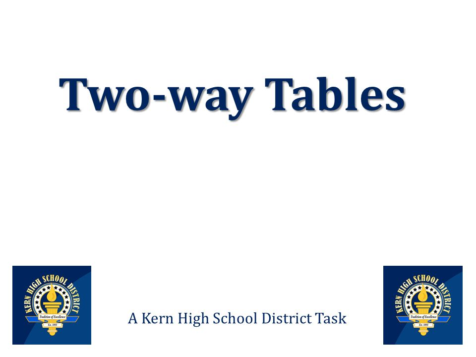 Two way tables a kern high school district task data from a survey 1 two way tables a kern high school district task ccuart Image collections