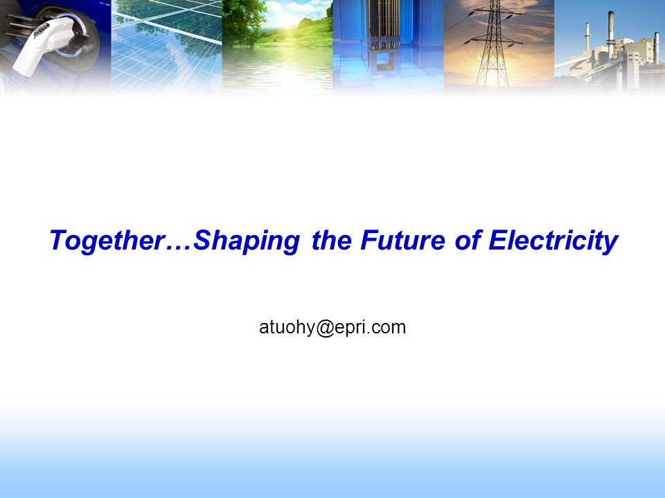 Together…Shaping the Future of Electricity