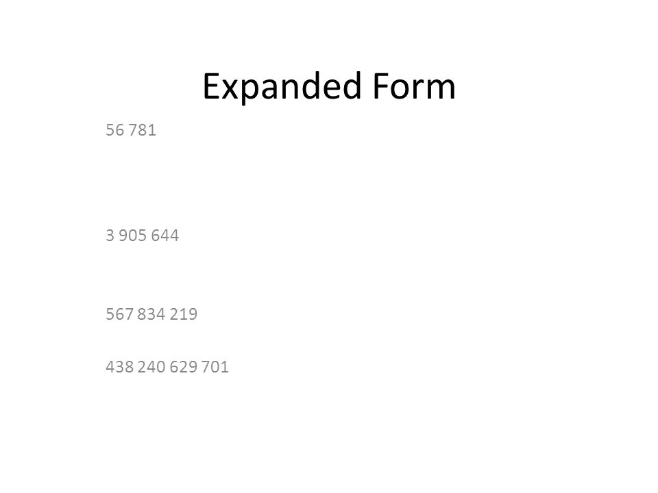 Expanded Form Ppt Download