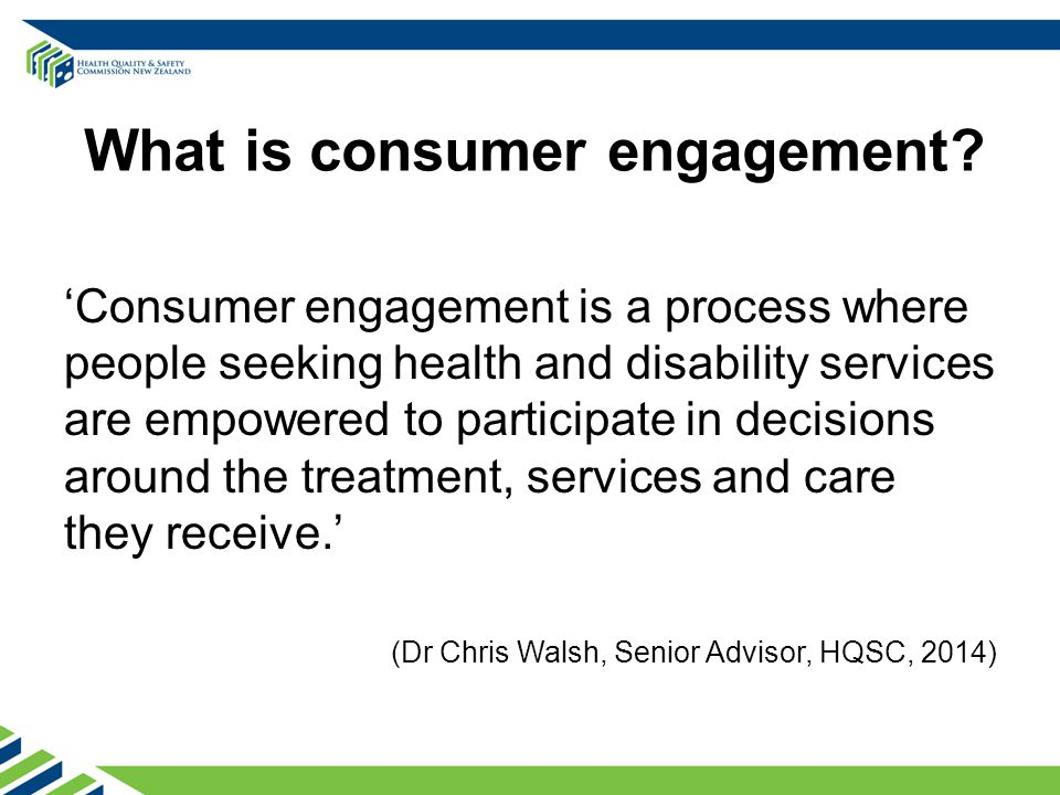What is consumer engagement.