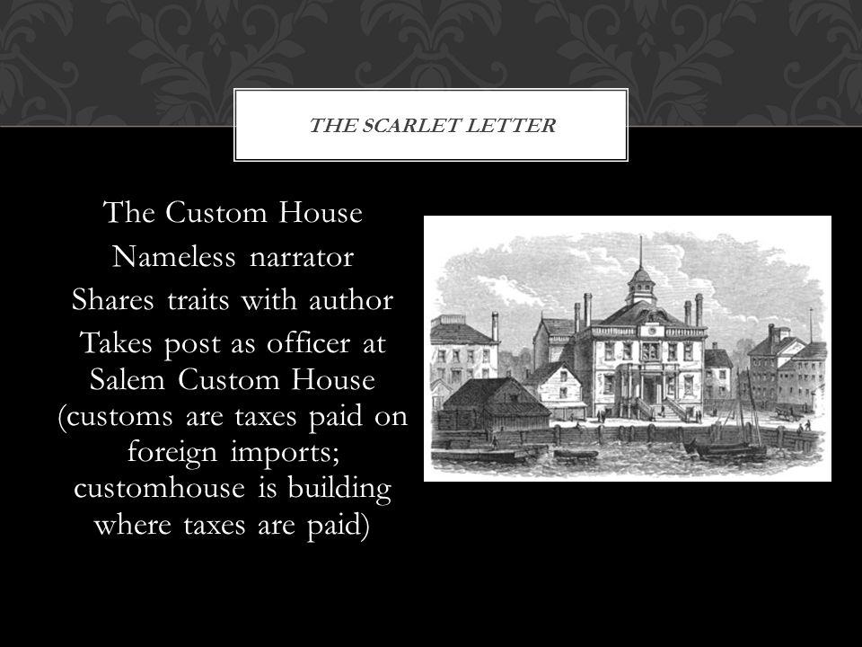 Custom house essay scarlet letter