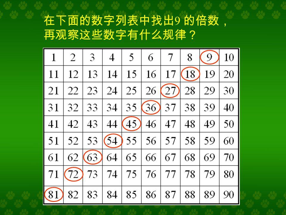 3×9 = 27 6×9 = 54 8×9 = 72 9×9 = 81 看算式说口诀 六九五十四 八九七十二 三九二十七九九八十一