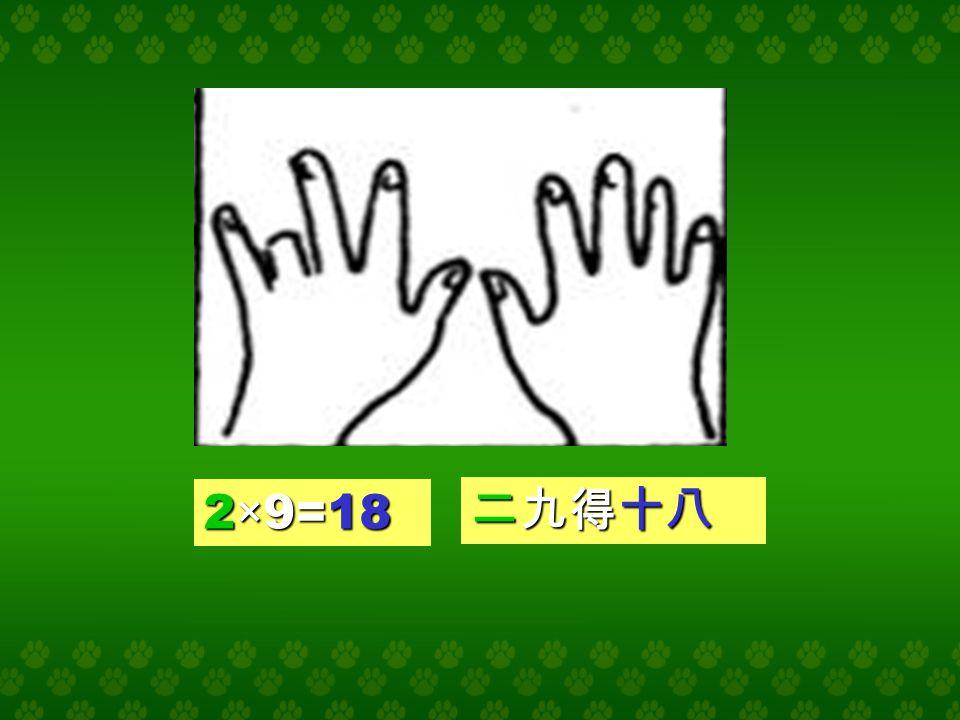 1×9=9 一九得九