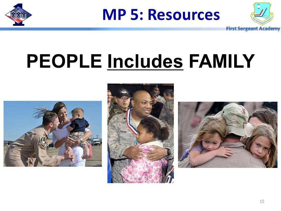 15 PEOPLE Includes FAMILY MP 5: Resources