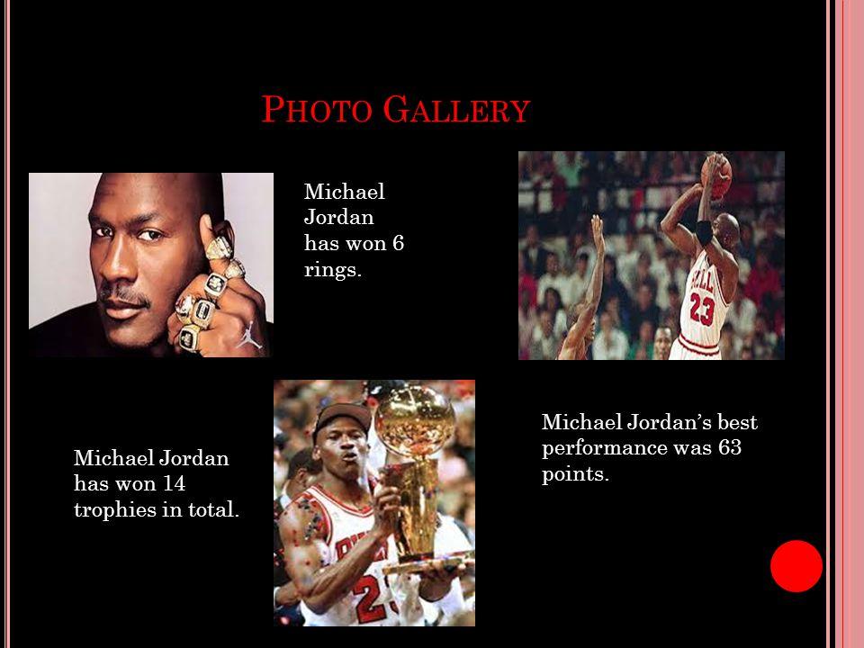 P HOTO G ALLERY Michael Jordan Has Won 6 Rings 14