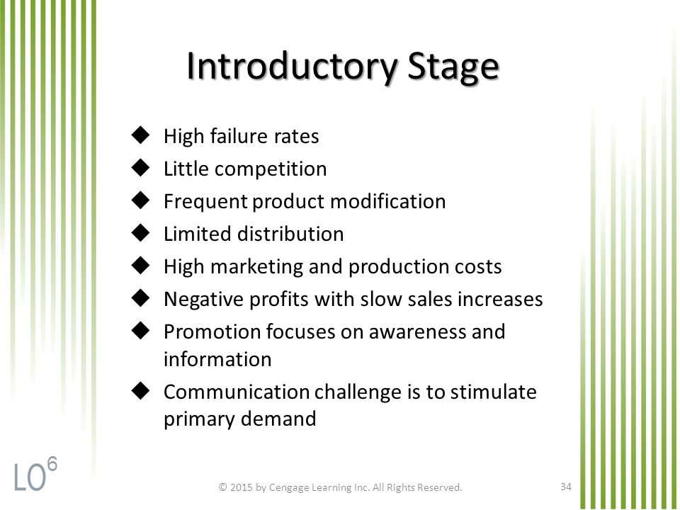 Introductory Stage © 2015 by Cengage Learning Inc.