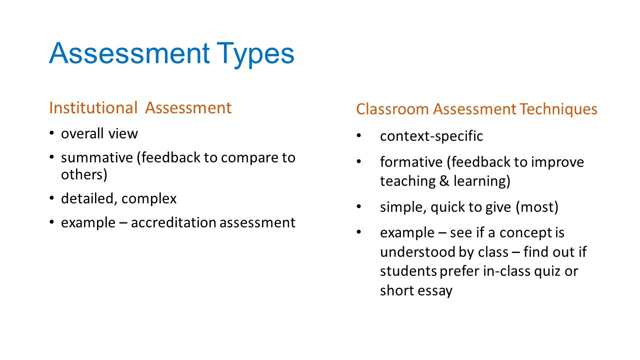 classroom assessments essay Essay about classroom assessments:: 13 works cited length: 2426 essay about assessments in the classroom - to.