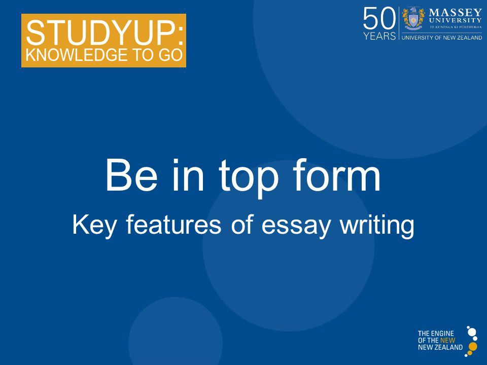 Structure and features of an essay?