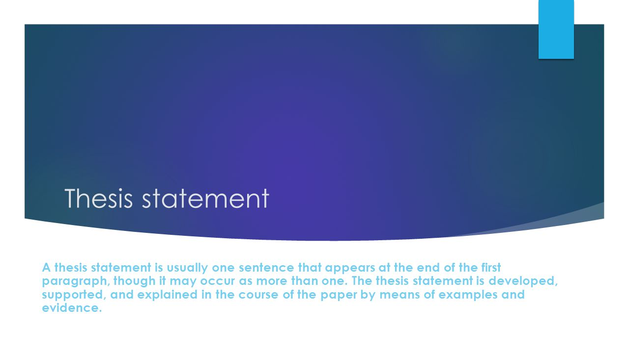 Popular Thesis Statement Writer Site Usa