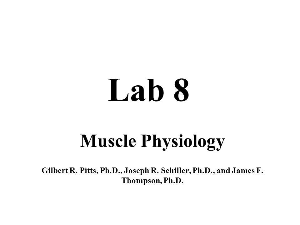 Lab 8 Muscle Physiology Gilbert R Pitts Phd Joseph R Schiller