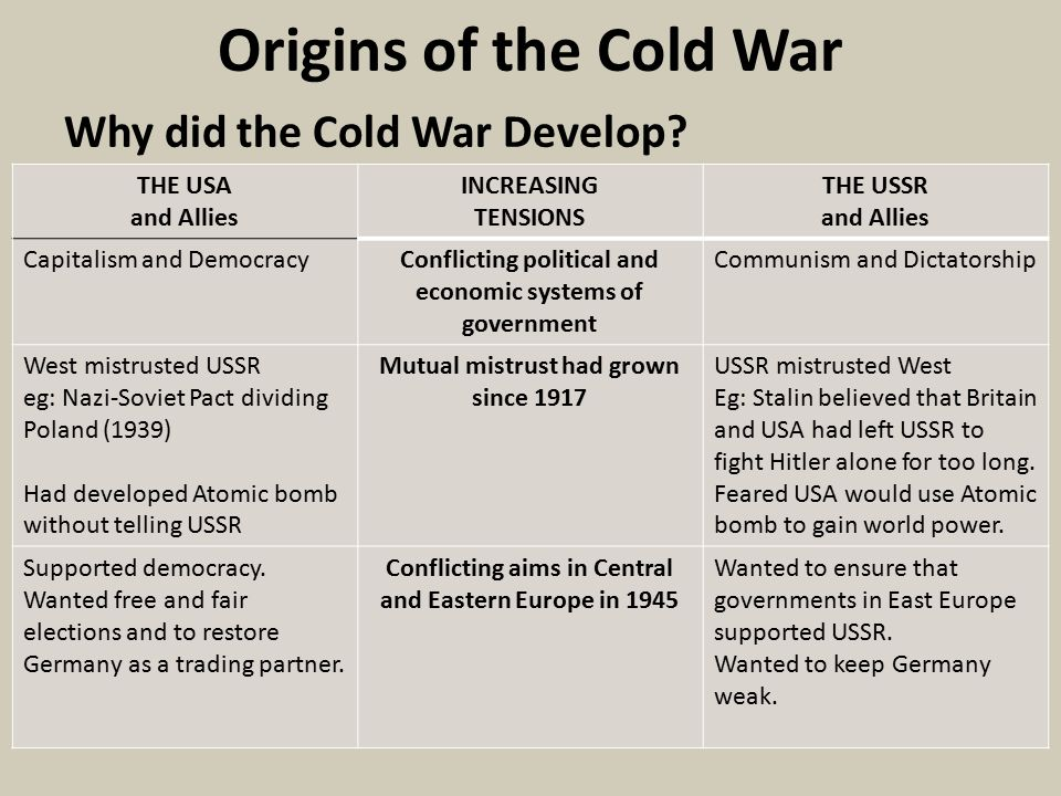 history cold war essays